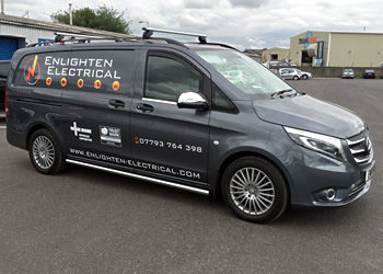 New Enlighten Electrical Van drivers side view