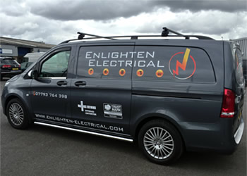 New Enlighten Electrical Van Off side view